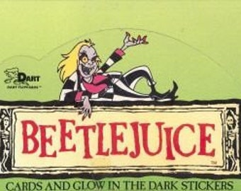 Beetlejuice Trading Card Box! 1990 By Dart Company Collectible Rare Find Non Sport Trading Cards Great Set Of Cards Free S&H Sale + 20% Off!