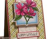 Dogwood blooms, birthday card