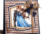 Vampire Dance, handmade card