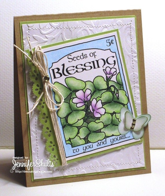 Seeds of Blessing, greeting card