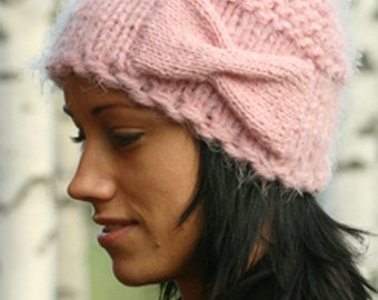 Light Pink knit Hat. Ready for ship.