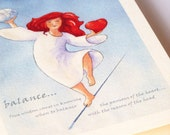 Redhead Balance card an affirmation for the heart and the head