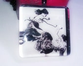 PENDANT Girlfight Glass Tile Pendant Keepsake Box Set