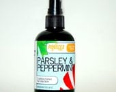 PARSLEY & PEPPERMINT Oily Skin Face Toner- All Natural and Preservative Free