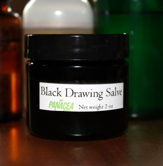 BLACK DRAWING SALVE (1 oz)  for infections, acne, bites, strings