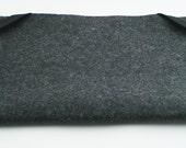 "Macbook Air Sleeve 11"" or 13"" - 100% Merino wool - Charcoal - Landscape - with Swiss Velvet Elastics"