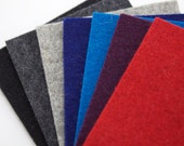 Choose your Color for Woolen Felt - swatches available