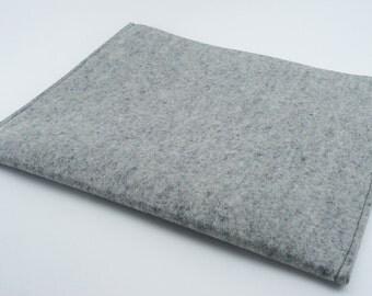 iPad, Playbook or Xoom Sleeve - 100% Merino wool - Gray - Landscape