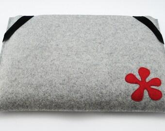 Macbook Pro 13 Sleeve - Gray - Landscape with elastics