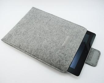 iPad, Playbook or Xoom Sleeve - 100% Merino wool - Gray - Portrait