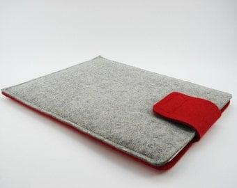 iPad, Playbook or Xoom Sleeve - 100% Merino wool - Two Tone - Portrait