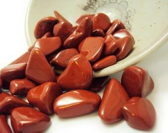 "3 Red Jasper, Tumbled | 0.5 - 0.75"" | Natural, Crystals, Gems, Rocks & Minerals, Jewelry, Spiritual Supplies, Gemstones"