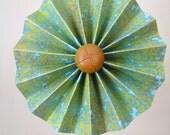 Aqua Vintage Pinwheel