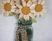 Pdf Primitive Summer  Daisy Flower  Epattern The Primitive Nook Instant Download OFG FAAP