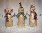 PDF  Primitive Christmas Snowman Trio  epattern OFG Team FAAP Team