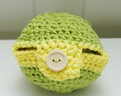 SALE Apple Cozy-Yellow and Green Stripes