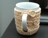 Convertible Coffee Cup Cozy- Cream