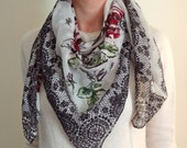 Lacey Floral Lightweight Shawl