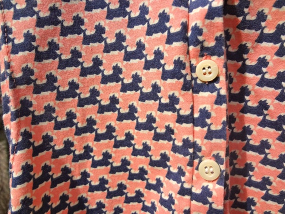 1950s Dog Print Button Up Shirt