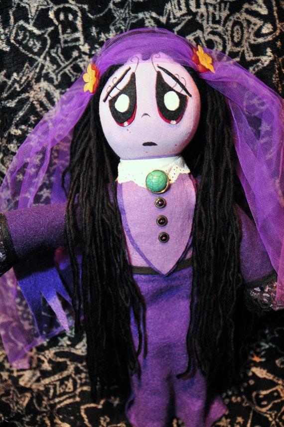 Items Similar To Ruby Gloom Handmade Doll Misery On Etsy