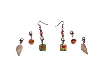 Interchangeable Earrings - Tropical Style