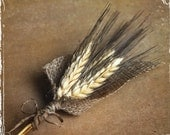 Wheat And Burlap Boutonniere - Perfect For Rustic Or Country Weddings - Groom Groomsmen - Spring Summer Fall Winter Autumn - Barn