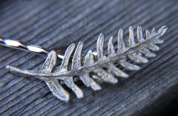 Pewter Fern Frond Bobby Pin