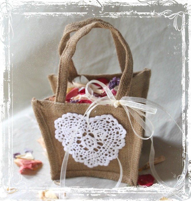 Flower Girl Baskets Burlap And Lace : Unavailable listing on etsy