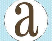 Boy Baby Shower Banner Letters - Blue and Brown - Printable PDF