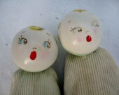 SweetBea Cancer Fundraising Item Vintage 1950s Krueger Rattle Baby Booties Little Goody Toy Shoes