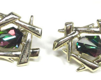 Sarah Coventry Watermelon Earrings - Asian Influence