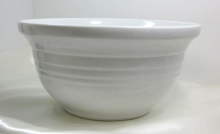 Vintage Ceramic Mixing Bowls White Bowl By