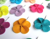 pick your colors - felt flower bobby pin hair clips - set of 3
