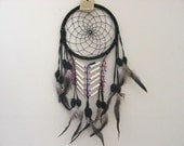 Native Dream catcher sued leather with beads