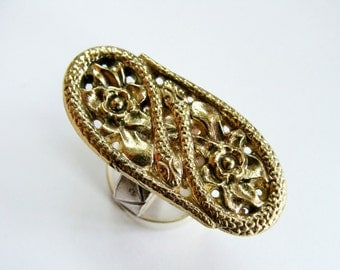 Snake Ring Sterling Silver And Brass - Metalwork Snake Ring - Sterling Silver Snake Ring -  Snake Ring -  Silver Snake Jewelry
