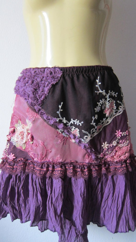 a gorgeous multi patch lace bohemian skirt...