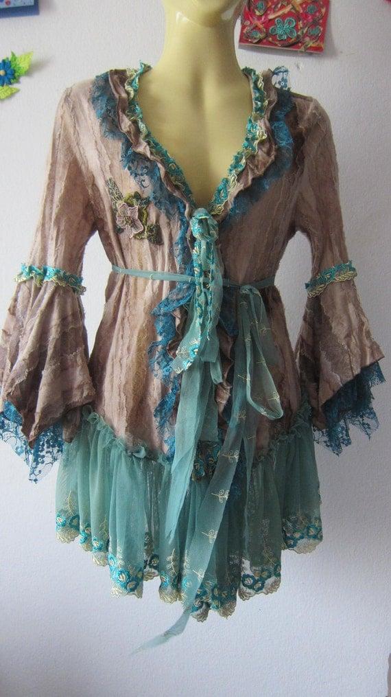 RESERVED..vintage inspired pixie woodland jacket...