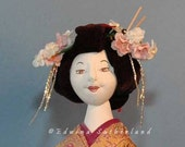 Geisha cloth doll pattern for 16 inch doll