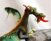 Dragon needle felted OOAK