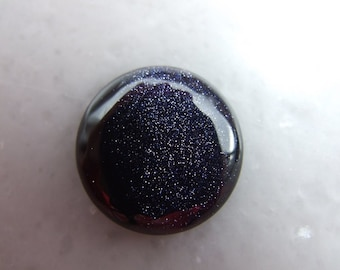 1 PC 25 mm Blue Gold Stone Round cabochon  250CB