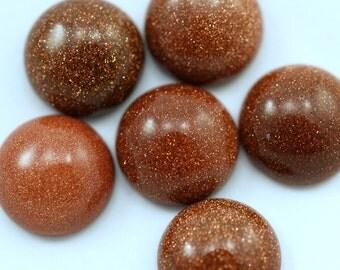 5 pcs 12 mm Gold Stone round cabochon  120CB