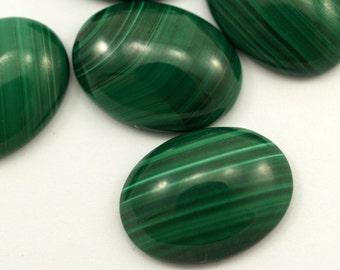 Malachite genuine cabochon 1 pc 15X20 mm