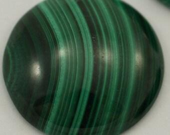 Malachite genuine cabochon 1 pc 20 mm 200CB