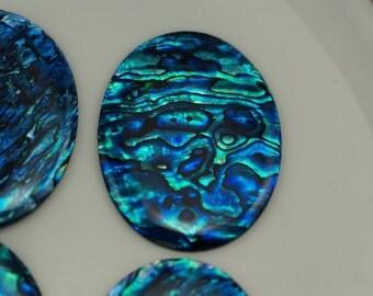 Paua Abalone Oval cabochon 30x40 mm Dyed Paua Abalone