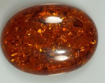 10 pcs 22x30 mm Baltic Amber (Imitation) Oval cabochon 01