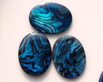 2 pcs 15x20 mm Paua Abalone Oval cabochon Dyed Paua Abalone