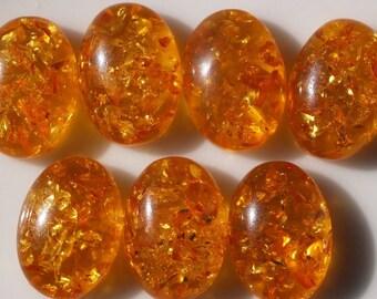 10 Pcs 10x14 mm Baltic Amber (Imitation) Oval cabochon