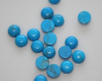 10 pcs 4 mm Turquoise Howlite  round cabochon  40CB
