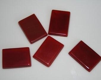 2 pcs 13x18x2.3 mm  agate , Agate rectangle cabochon
