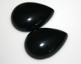 1 pc 18x25 mm Onyx Pear cabochon